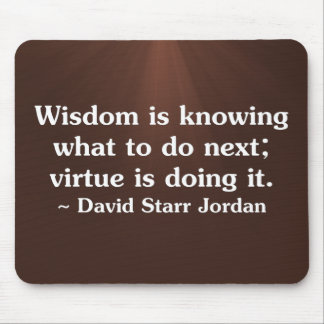 Using wisdom and virtue to help others (2) mouse pad