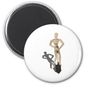 UsingAShovel112611 2 Inch Round Magnet
