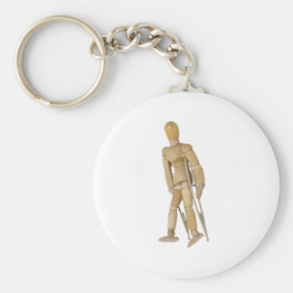 UsingCrutches013110 Basic Round Button Keychain