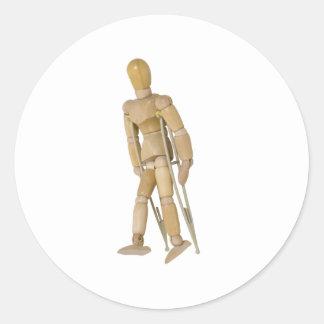 UsingCrutches013110 Pegatina Redonda