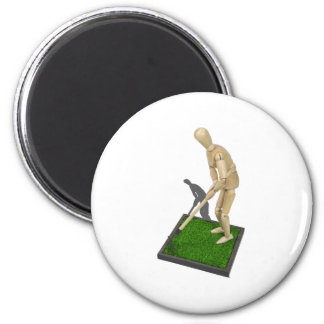 UsingHoeOnGrass112611 2 Inch Round Magnet