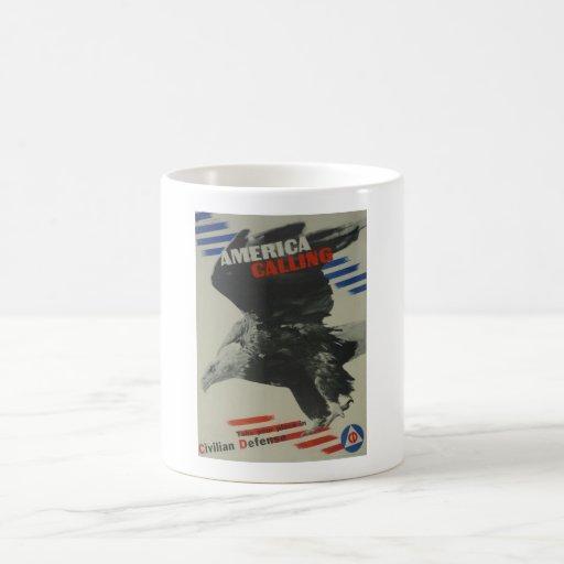 USLB394_america-calling_Propaganda Poster Coffee Mug