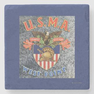 USMA West Point Seal Scene Stone Coaster