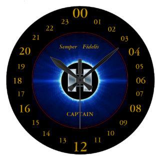 USMC CAPTAIN WALL CLOCK