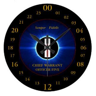 USMC CHIEF WARRANT OFFICER FIVE WALL CLOCK
