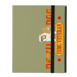 USMC del veterano del perro de diablo iPad Coberturas
