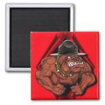 USMC Devil Dog 2 Inch Square Magnet