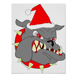 USMC Devil Dog Christmas Poster