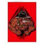 USMC Devil Dog Greeting Card