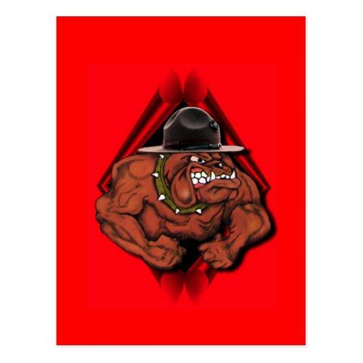 USMC Devil Dog Post Card