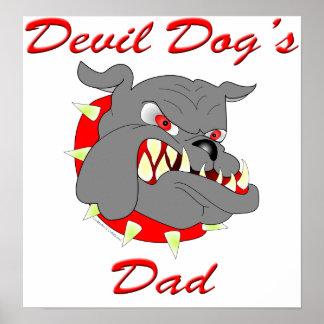 USMC Devil Dog's Dad Poster