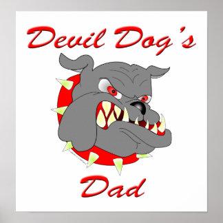 USMC Devil Dog's Dad Posters