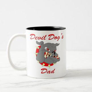 USMC Devil Dog's Dad Two-Tone Coffee Mug
