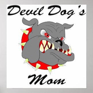 USMC Devil Dog's Mom Poster