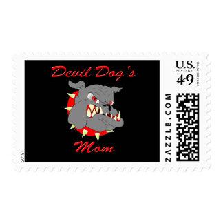 USMC Devil Dog's Mom Stamp