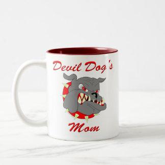 USMC Devil Dog's Mom Two-Tone Coffee Mug