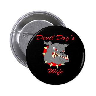 USMC Devil Dog's Wife 2 Inch Round Button