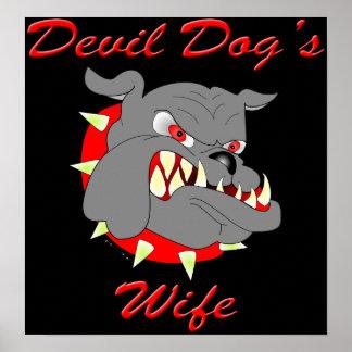 USMC Devil Dog's Wife Poster
