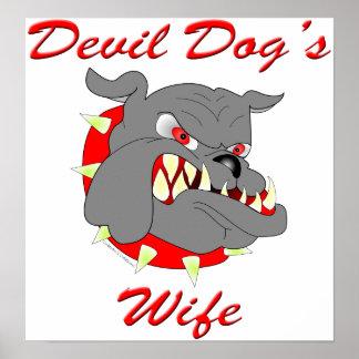 USMC Devil Dog's Wife Posters