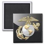 USMC Eagle, Globe & Anchor (EGA) [3D] 2 Inch Square Magnet