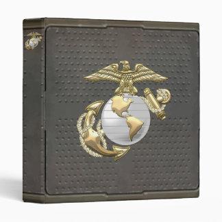 USMC Eagle Globe Anchor EGA 3D Vinyl Binder