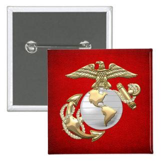 USMC Eagle, Globe & Anchor (EGA) [3D] Button