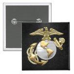 USMC Eagle, Globe & Anchor (EGA) [3D] 2 Inch Square Button