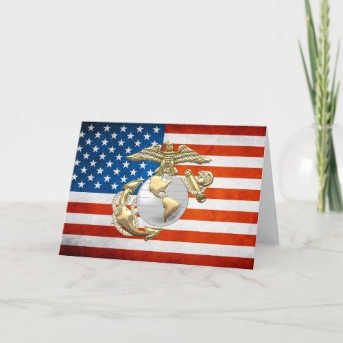 USMC Eagle Globe  Anchor EGA 3D Card