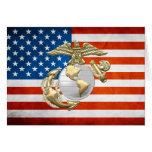 USMC Eagle, Globe & Anchor (EGA) [3D] Greeting Card