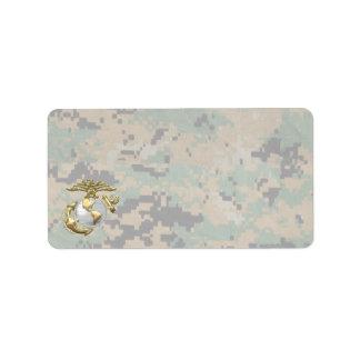 USMC Eagle, Globe & Anchor (EGA) [3D] Label