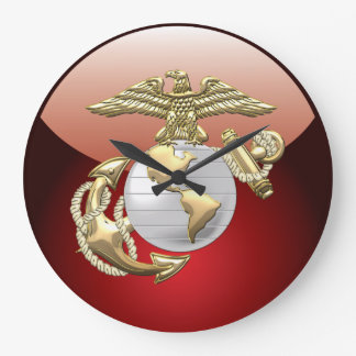 USMC Eagle, Globe & Anchor (EGA) [3D] Large Clock
