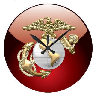 USMC Eagle, Globe & Anchor (EGA) [3D] Large Clock