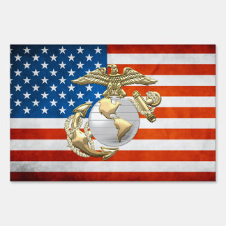 USMC Eagle, Globe & Anchor (EGA) [3D] Lawn Sign