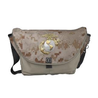 USMC Eagle, Globe & Anchor (EGA) [3D] Messenger Bags
