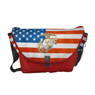 USMC Eagle, Globe & Anchor (EGA) [3D] Courier Bags