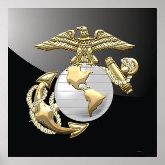 USMC Eagle, Globe & Anchor (EGA) [3D] Poster