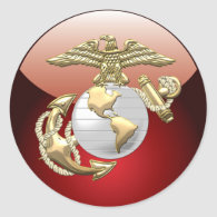 USMC Eagle, Globe & Anchor (EGA) [3D] Sticker