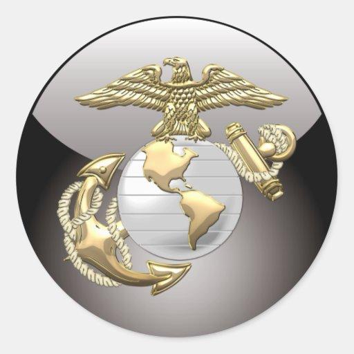 USMC Eagle, Globe & Anchor (EGA) [3D] Stickers