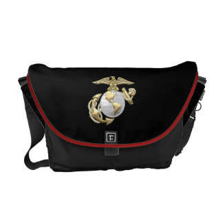 USMC Eagle, globo y ancla (EGA) [3D] Bolsas De Mensajeria