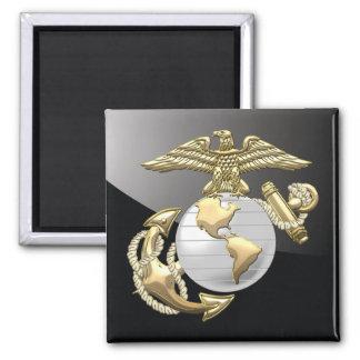 USMC Eagle, globo y ancla (EGA) [3D] Imán Cuadrado