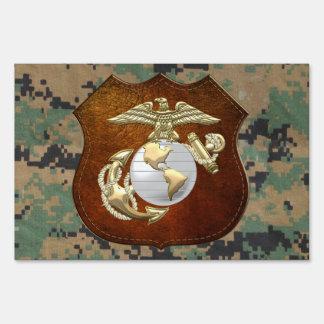 USMC Eagle, globo y ancla (EGA) [3D] Letrero