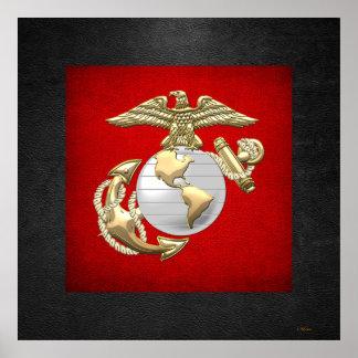 USMC Eagle, globo y ancla (EGA) [3D] Impresiones