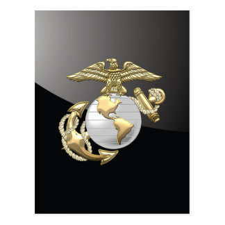 USMC Eagle, globo y ancla (EGA) [3D] Postal