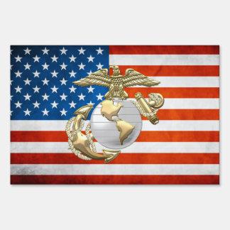 USMC Eagle, globo y ancla (EGA) [3D] Señales