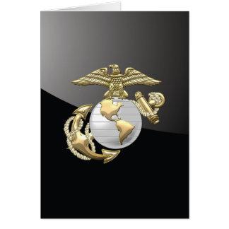 USMC Eagle, globo y ancla (EGA) [3D] Tarjeta De Felicitación