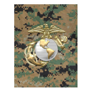 USMC Eagle, globo y ancla (EGA) [3D] Tarjeta Postal