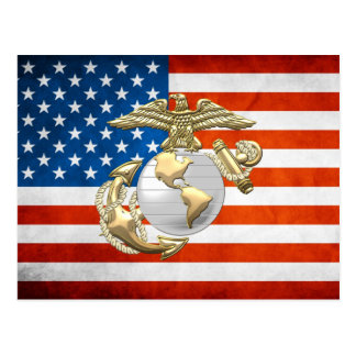 USMC Eagle, globo y ancla (EGA) [3D] Tarjetas Postales