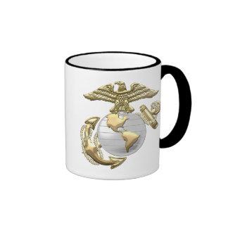 USMC Eagle, globo y ancla (EGA) [3D] Taza De Dos Colores