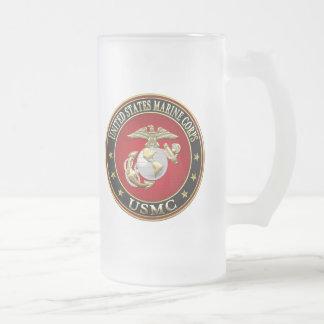 USMC EGA [Special Edition] [3D] 16 Oz Frosted Glass Beer Mug