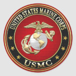USMC EGA [Special Edition][3D] Classic Round Sticker